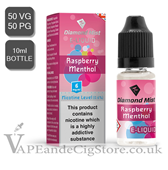 Raspberry & Menthol Diamond Mist 10ml E Juice