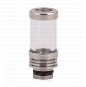 Pyrex And Stainless Steel Drip Tip With Top Ring
