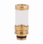 Pyrex And Copper Steel Drip Tip With Top Ring