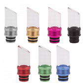 Pyrex And Alloy Drip Tips With Angled Top