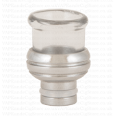 Pyrex And Stainless Steel Wide Bore Drip Tip