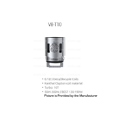 Smok TFV8 V8 T10 Replacement Octuple Coil 0.12 Ohm (V8-T10)