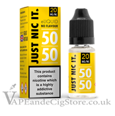 Just Nic It Shot of 20mg 50/50 vg (10ml Bottle)