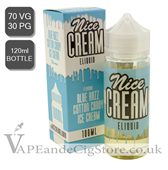 Blue Razz by Nice Cream E Liquids (120ml Bottle)