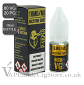 P Vaper Ruthless Nic Shot of 18mg 80/20 vg (10ml Bottle)