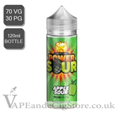 Apple Sour by Power Sour E Juice 120ml Shortfill