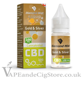 Gold & Silver CBD Tobacco Diamond Mist 10ml E Juice