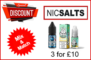 3 For £10 - Nic Salts