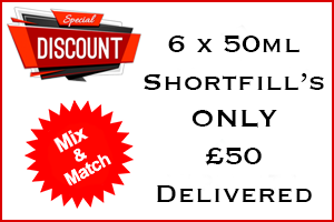 4 x 50ml Shortfill £30 Mix & Match