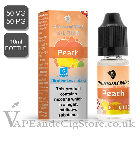 Peach Diamond Mist 10ml E Juice