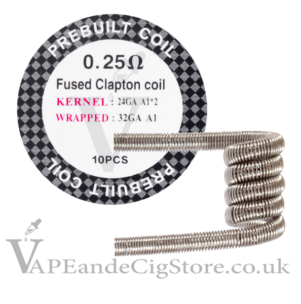 Fused Clapton 0.25ohm Pre Made Coils