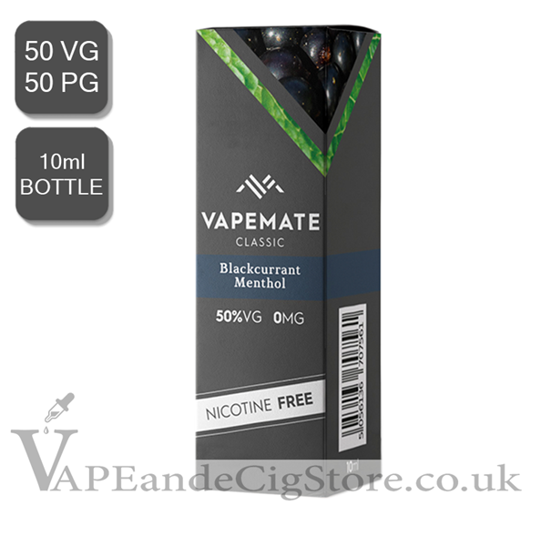 Blackcurrant Menthol E Liquid by Vape Mate