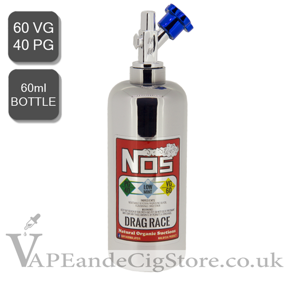 Drag Race by NOS E Liquids Nic Shot (60ml Bottle)