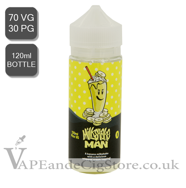 Banana Milkshake Man E Liquid (120ml Bottle)