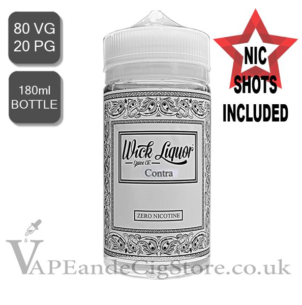 Contra E Juice By Wick Liquor (180ml Bottle Nic Shot)