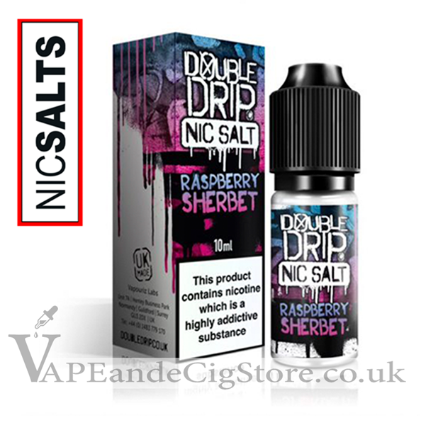 Raspberry Sherbet Nic Salt by Double Drip