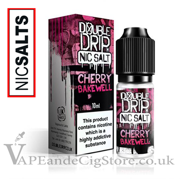 Cherry Bakewell Nic Salt by Double Drip